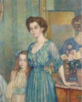 Theo van Rysselberghe - Mme Bodenhausen with a Child,1910
