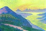 Theo van Rysselberghe - Sunset at Ambleteuse.