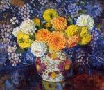 Theo van Rysselberghe - Vase of Flowers, 1907.