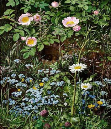 Otto Didrik Ottesen - Dog roses, forget-me-nots, daisies, buttercups and clover