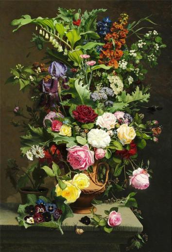 Otto Didrik Ottesen - En Vase med Roserne