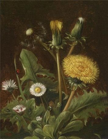 Otto Didrik Ottesen - Still Life with dandelions