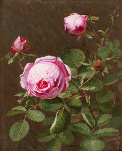 Otto Didrik Ottesen - Still Life with Roses