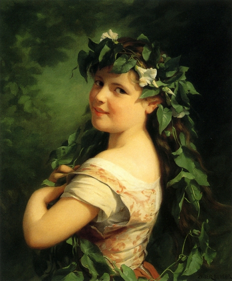 Fritz Zuber-Bühler - Girl with wreath