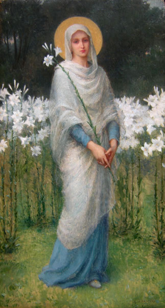 Etienne Azambre - Madonna with Lilies