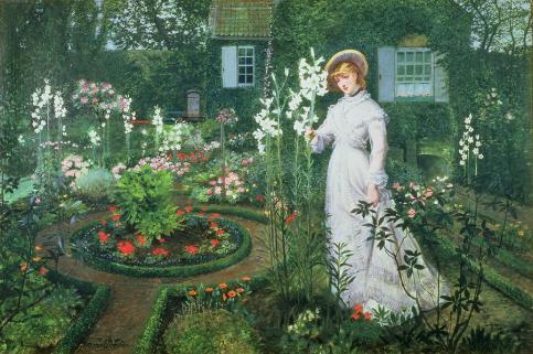 John Atkinson Grimshaw - Queen of the Lilies