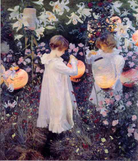 John Singer Sargent - Carnation, Lily, Lily, Rose.