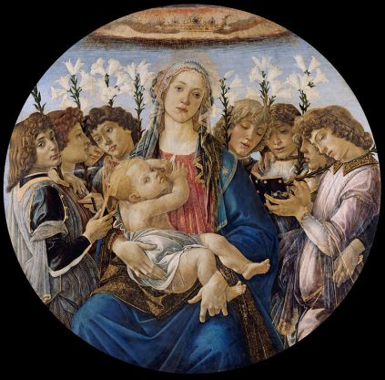 Sandro Botticelli - Mary with the Child and Singing Angels
