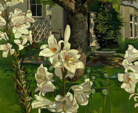 Stanley Spencer - Madonna Lilies, Cookham, Berkshire