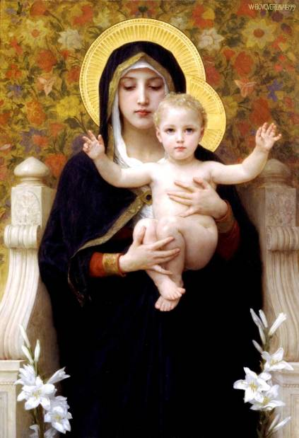 William-Adolphe Bouguereau - The Virgin of the Lilies