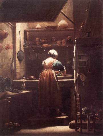 Giuseppe Maria Crespi - The Scullery Maid
