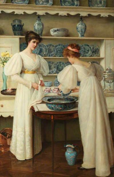 Louise Jopling - Blue and White