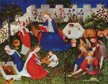Maître du Jardin de Paradis de Francfort - The Garden of Eden