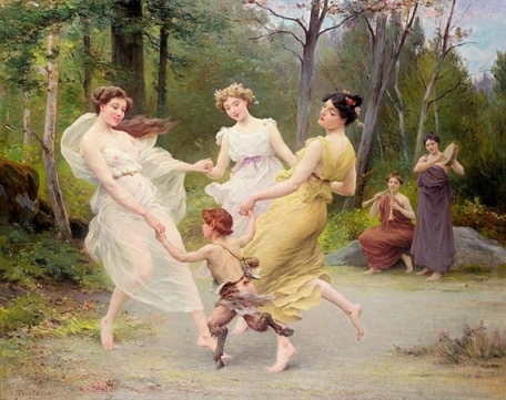 Jules Scalbert - The Three Graces Dancing With A Faun