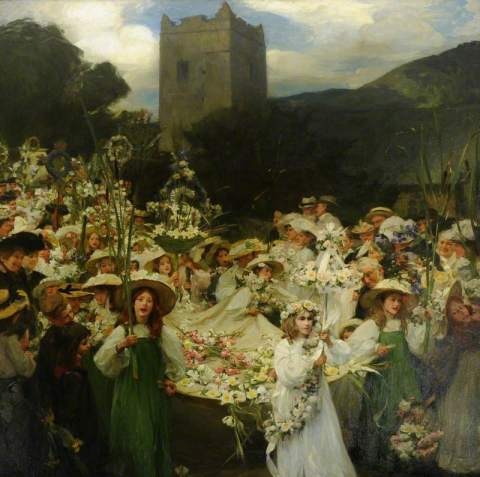 Frank Bramley - The Grasmere Rushbearing