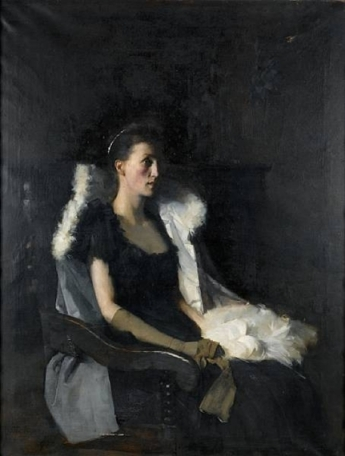 Frank Bramley - Portrait of Ethel Grace Bolitho, nee Macleod