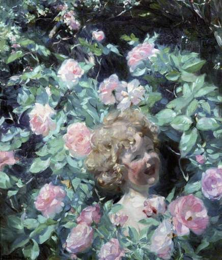 Frank Bramley - Among the Roses