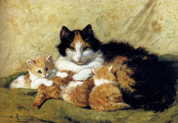 Henriette Ronner-Knip - A Proud Mother