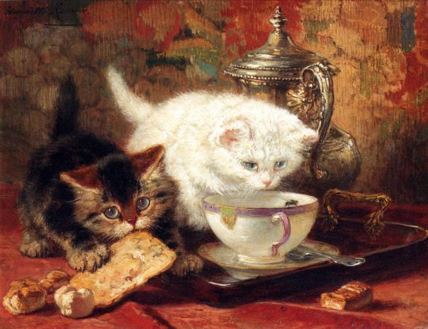 Henriette Ronner-Knip - High Tea