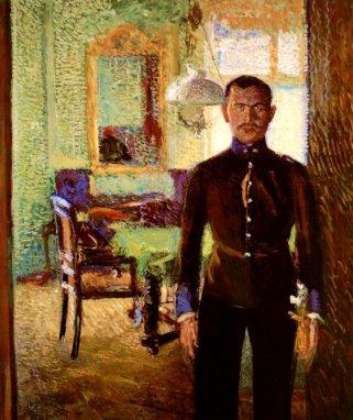Richard Gerstl - Portrait of a Lieutenant (Alois Gerstl), 1906