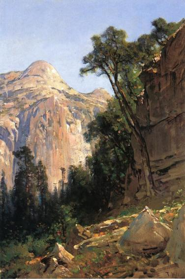 Thomas Hill - North Dome, Yosemite Valley