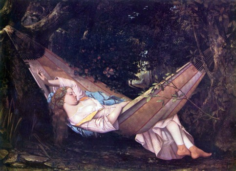 Gustave Courbet - The Hammock