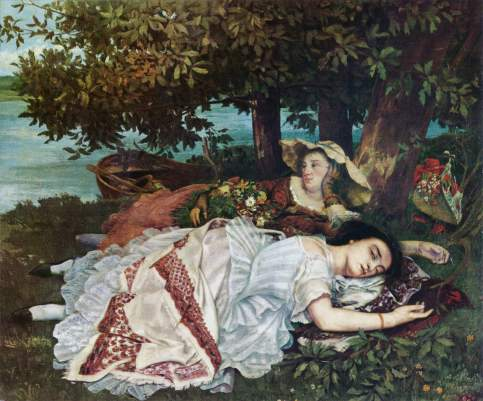 Gustave Courbet - The Young Ladies on the Banks of the Seine