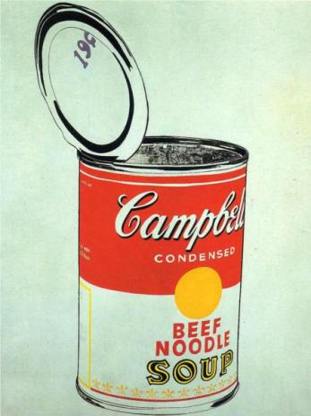 Andy Warhol - Big Campbell's Soup Can 19c (Beef Noodle), 1962