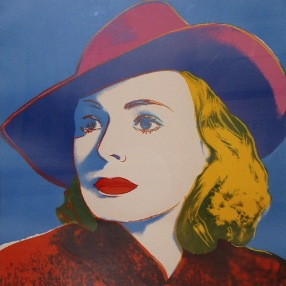Andy Warhol - Ingrid Bergman With Hat, 1983