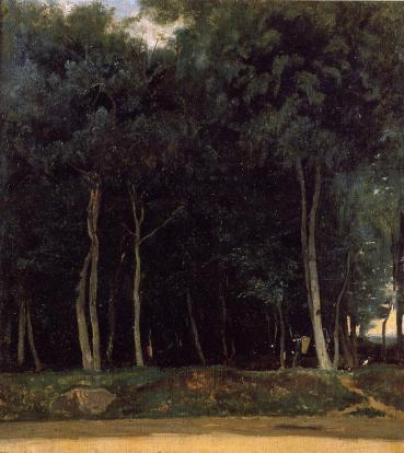 Jean-Baptiste-Camille Corot - Fontainebleau, the Bas-Breau Road