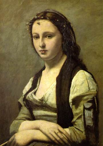 Jean-Baptiste-Camille Corot - Woman with a Pearl, 1868-70