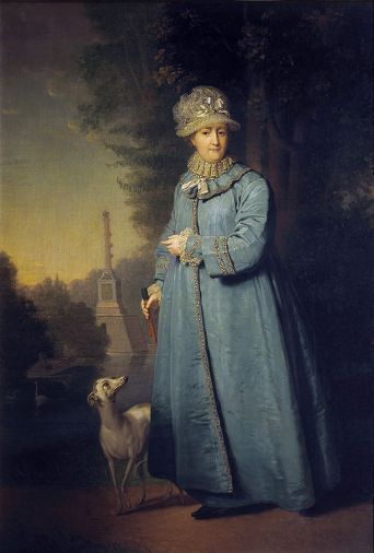 Vladimir Borovikovsky - Catherine II Strolling in the Park at Tsarskoye Selo