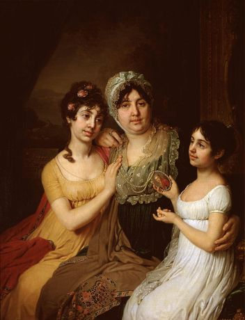 Vladimir Borovikovsky - Portrait Of Countess A I Bezborodko With Her Daughters.