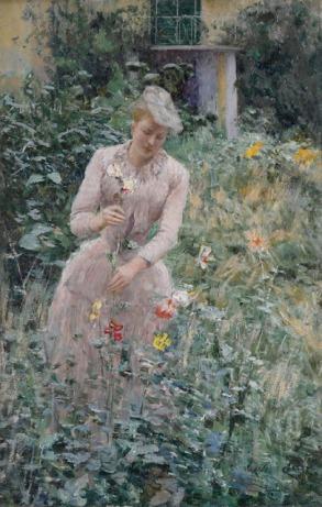 Emile Claus - In the Garden