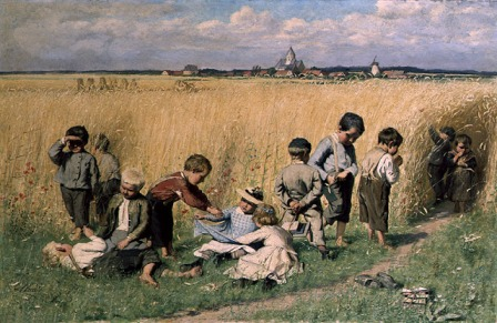 Emile Claus - On the Way to School