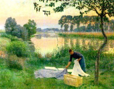 Emile Claus - Washerwoman