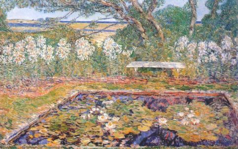 Childe Hassam - A long island garden