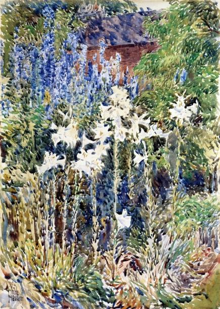 Childe Hassam - Flower Garden