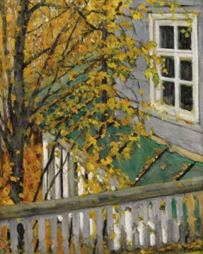 Konstantin Yuon - The Autumn View From The Balcony