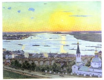 Konstantin Yuon - Sunset