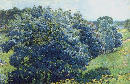 Konstantin Yuon - Blue bush