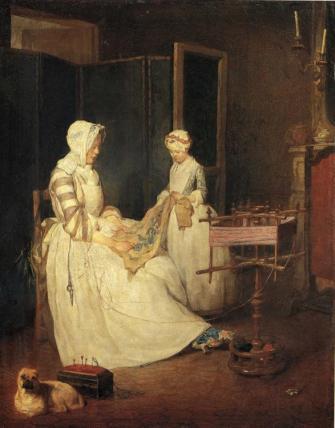Jean-Baptiste-Siméon Chardin - The Diligent Mother