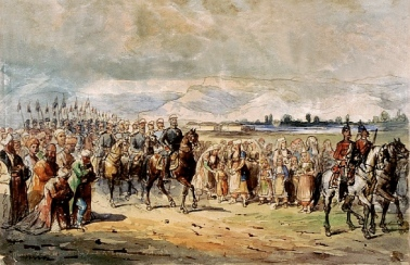 Carol Popp de Szathmary - Primirea lui Carol I in Bulgaria