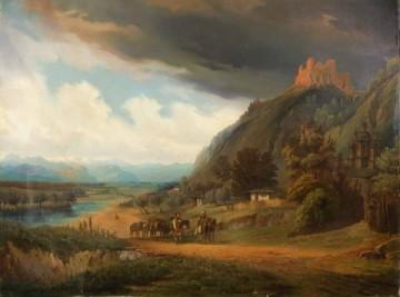 Carol Popp de Szathmáry - Vizita lui Carol I la Mănăstirea și Cetatea Neamțului.