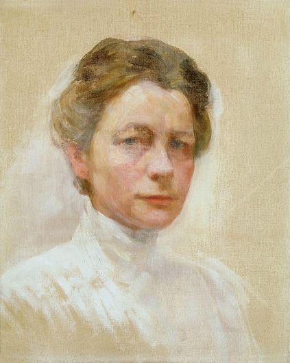 Ivana Kobilca - Self-portrait in White, around 1910