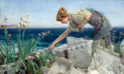 Sir Lawrence Alma-Tadema - Among the Ruins