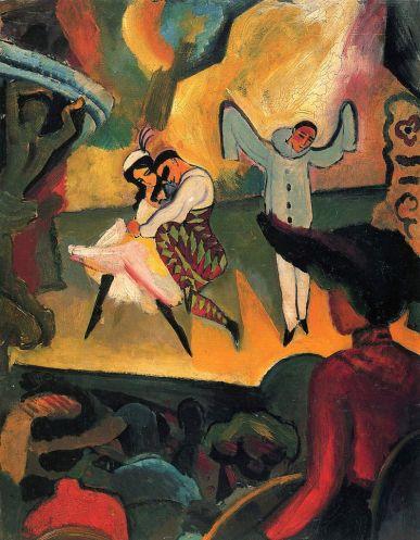 August Macke - Russian Ballet