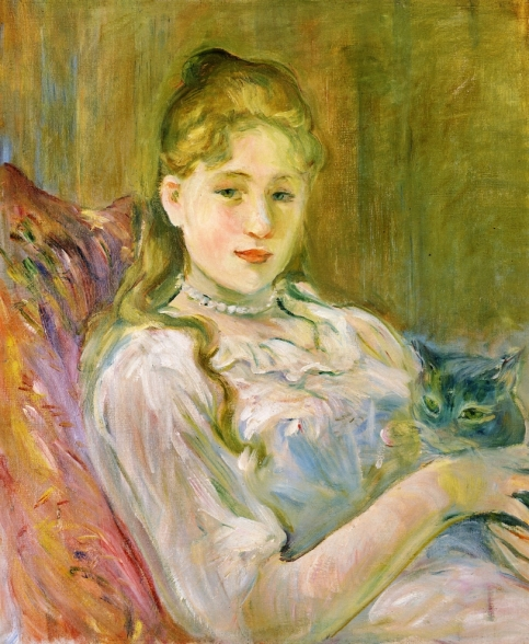 Berthe Morisot - Girl with Cat