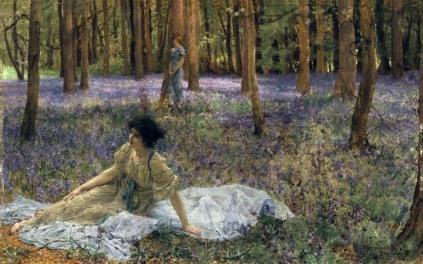 Sir Lawrence Alma-Tadema - Bluebells