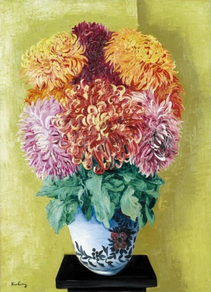 Moise Kisling - Chrysanthemums